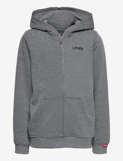 LVB RELAXED CORE FULL ZIP HOOD - hoodies - charcoal heather
