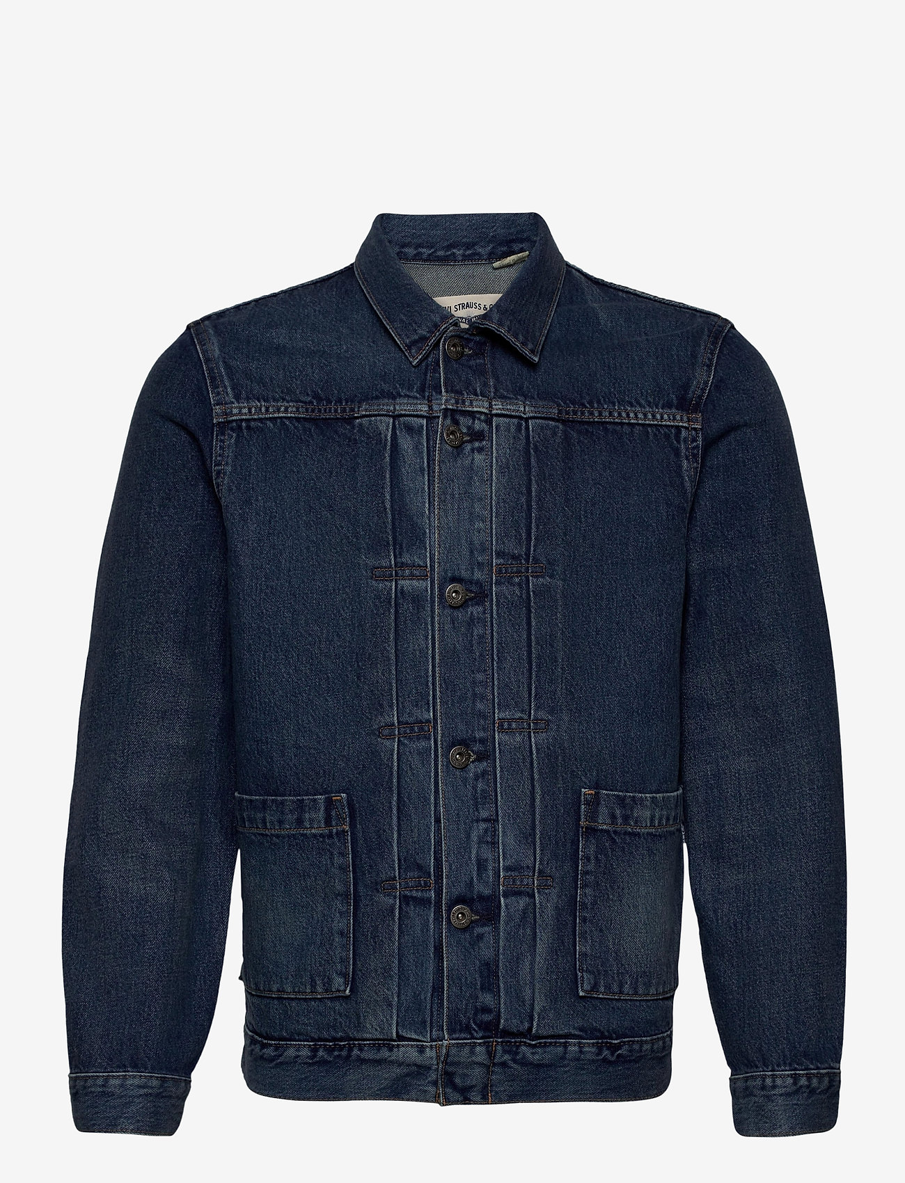 Levi's Made & Crafted - LMC TYPE II WORN TRUCKER LMC Y - kurtki dżinsowe - med indigo - worn in - 0