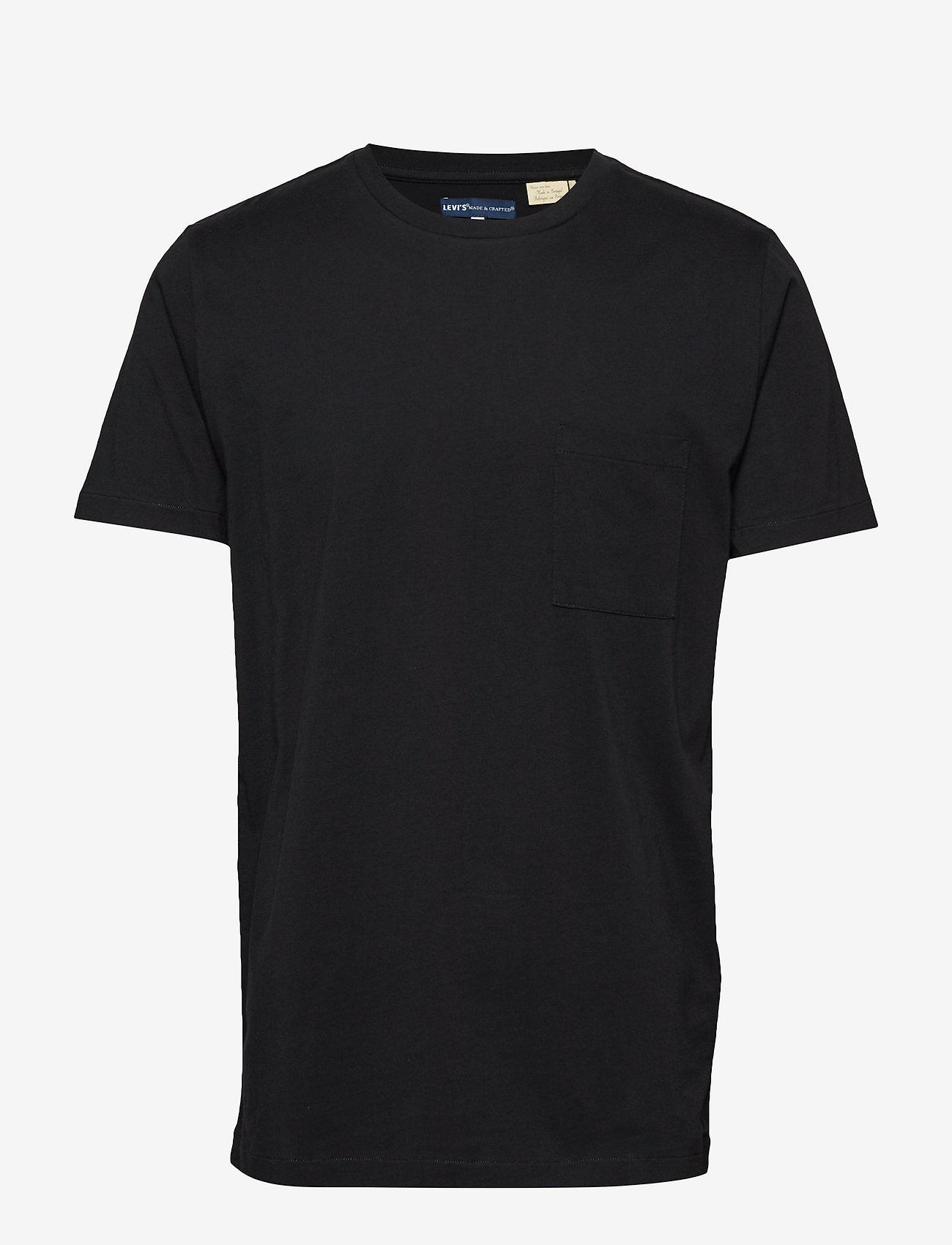 Levi's Made & Crafted - LMC POCKET TEE LMC CAVIAR BLAC - podstawowe koszulki - blacks - 0