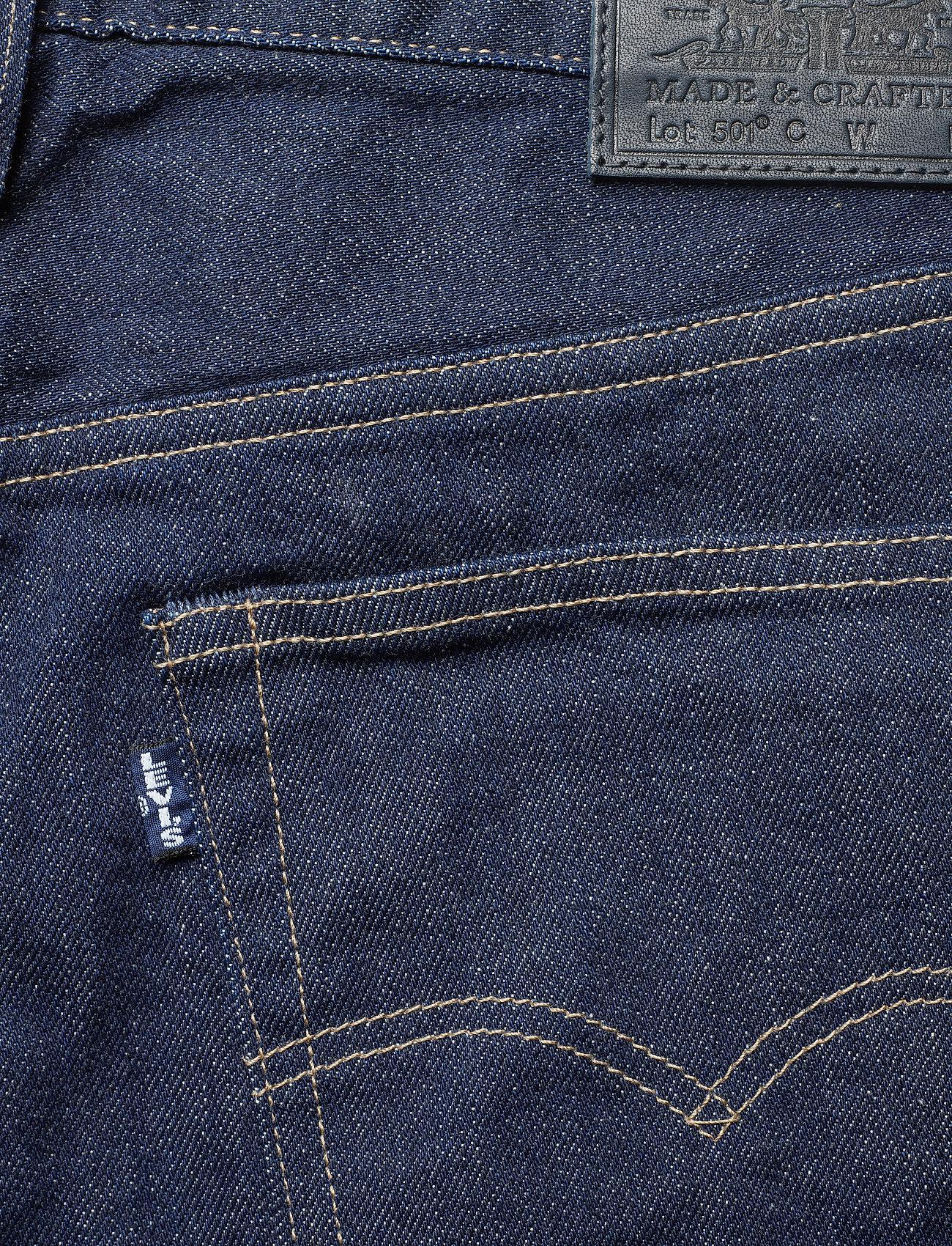 Levi's Made & Crafted - 501 CROP LMC RAW INDIGO - straight regular - dark indigo - flat finish - 4