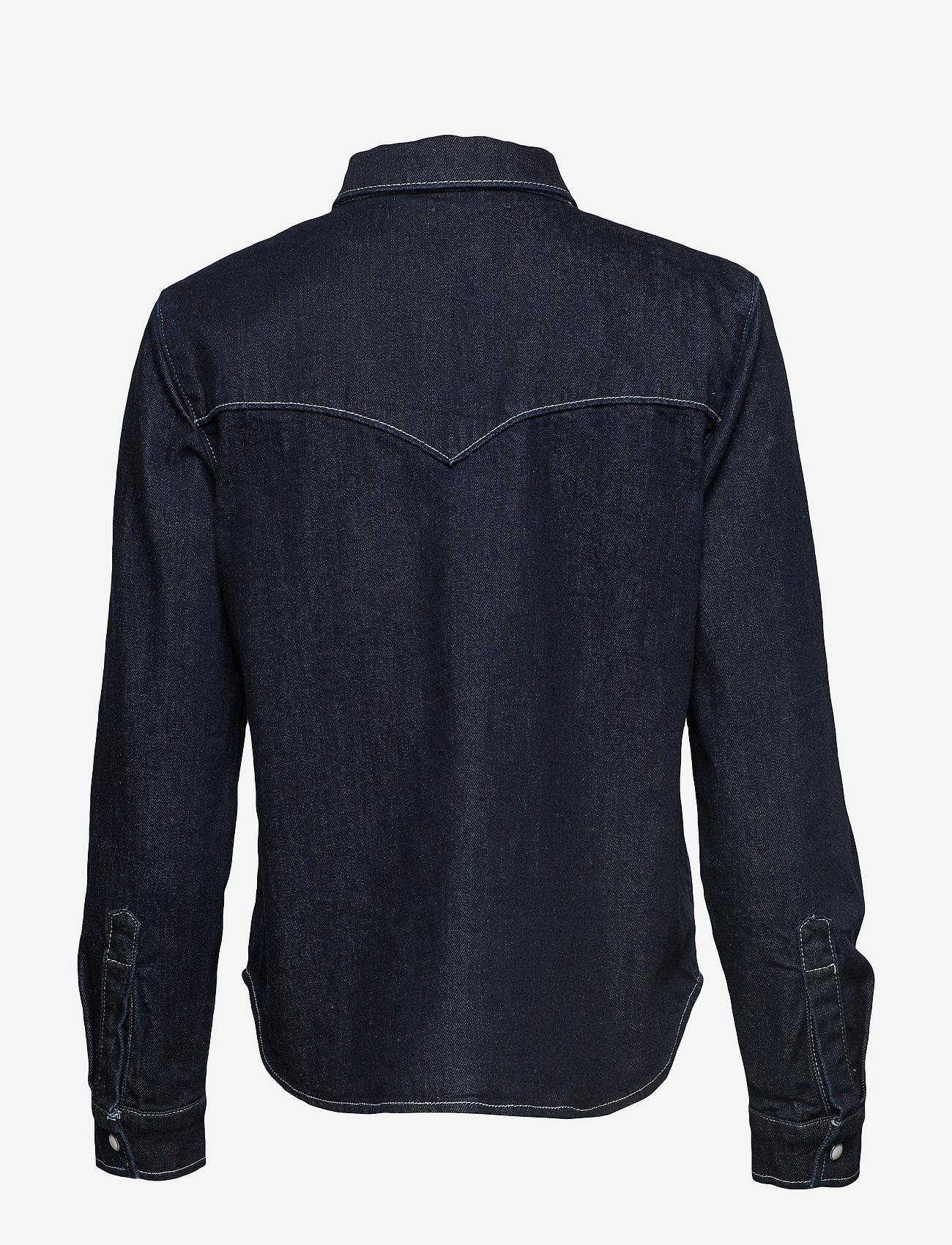 Levi's Made & Crafted - LMC S SHRNKN DNM SHIRT LMC SHR - chemises en jeans - dark indigo - flat finish
