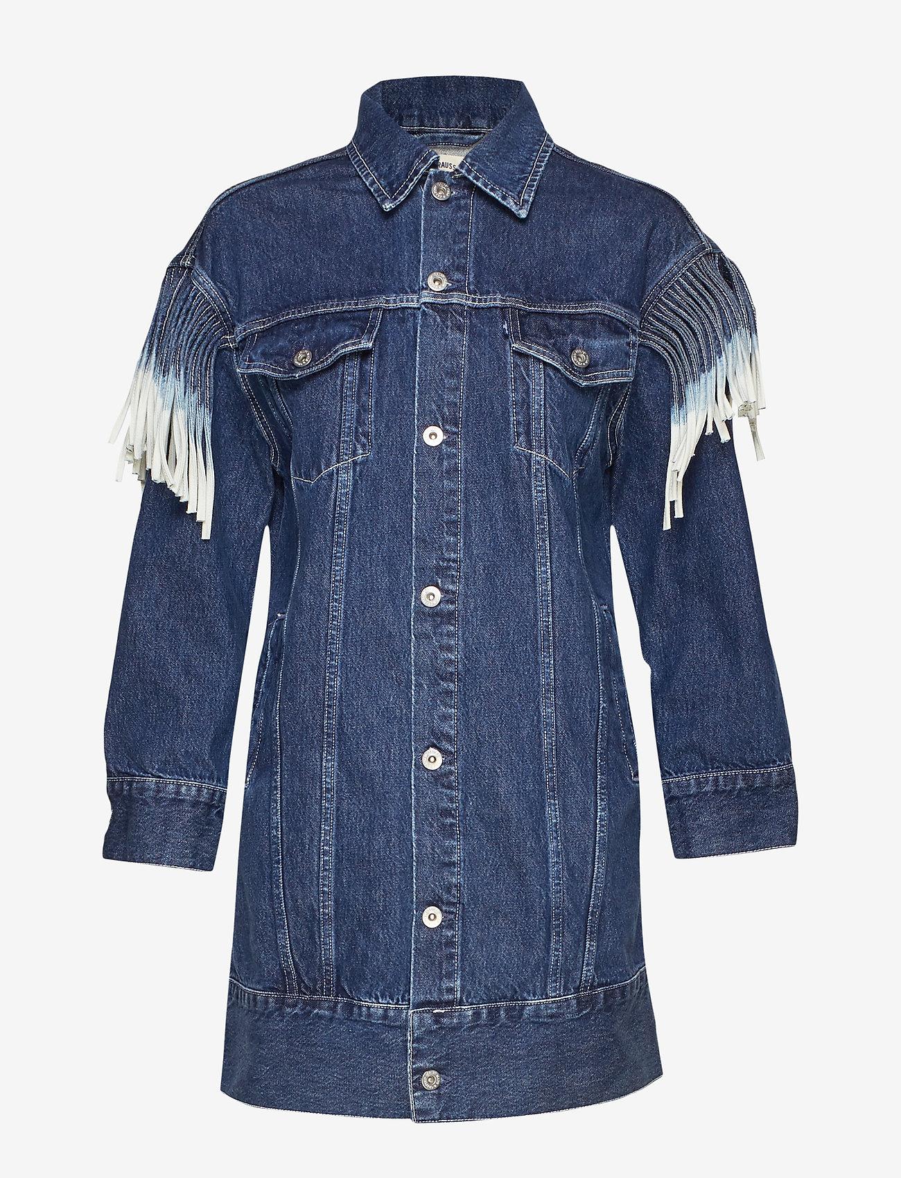 Levi's Made & Crafted - LMC OVRSZD RANCH DRESS LMC RIG - shirt dresses - dark indigo - flat finish