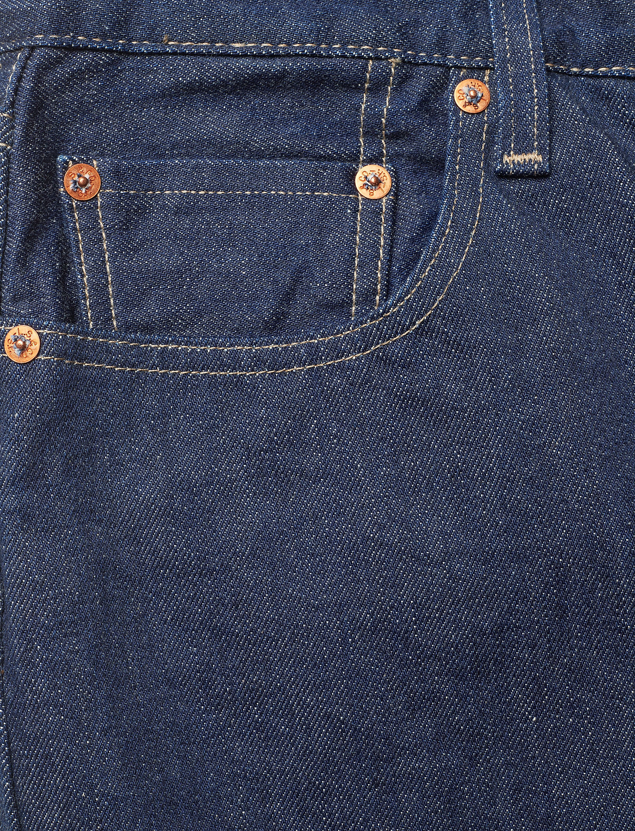 Levi's Made & Crafted - 501 CROP LMC RAW INDIGO - straight regular - dark indigo - flat finish - 2