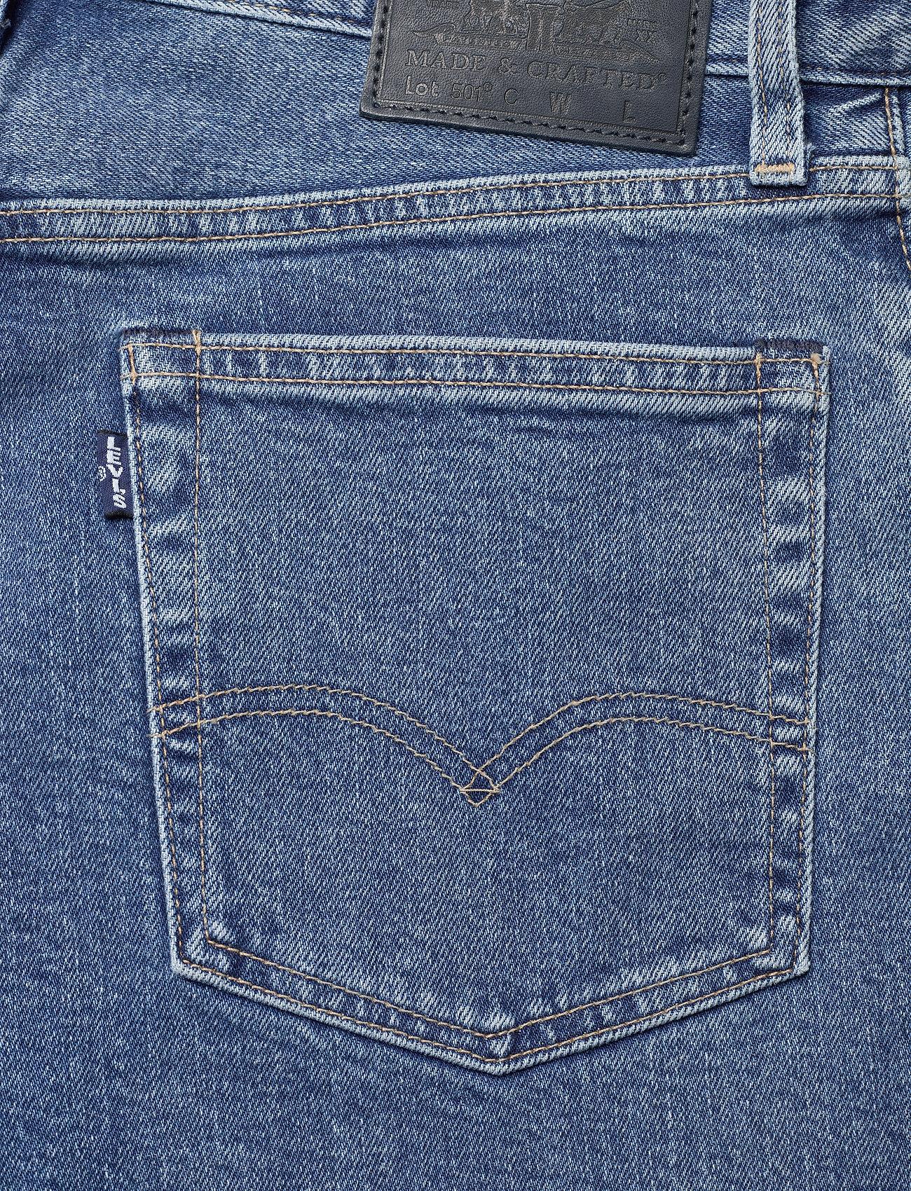 Levi's Made & Crafted - 501 CROP LMC CLIFFSIDE - straight regular - med indigo - worn in - 4