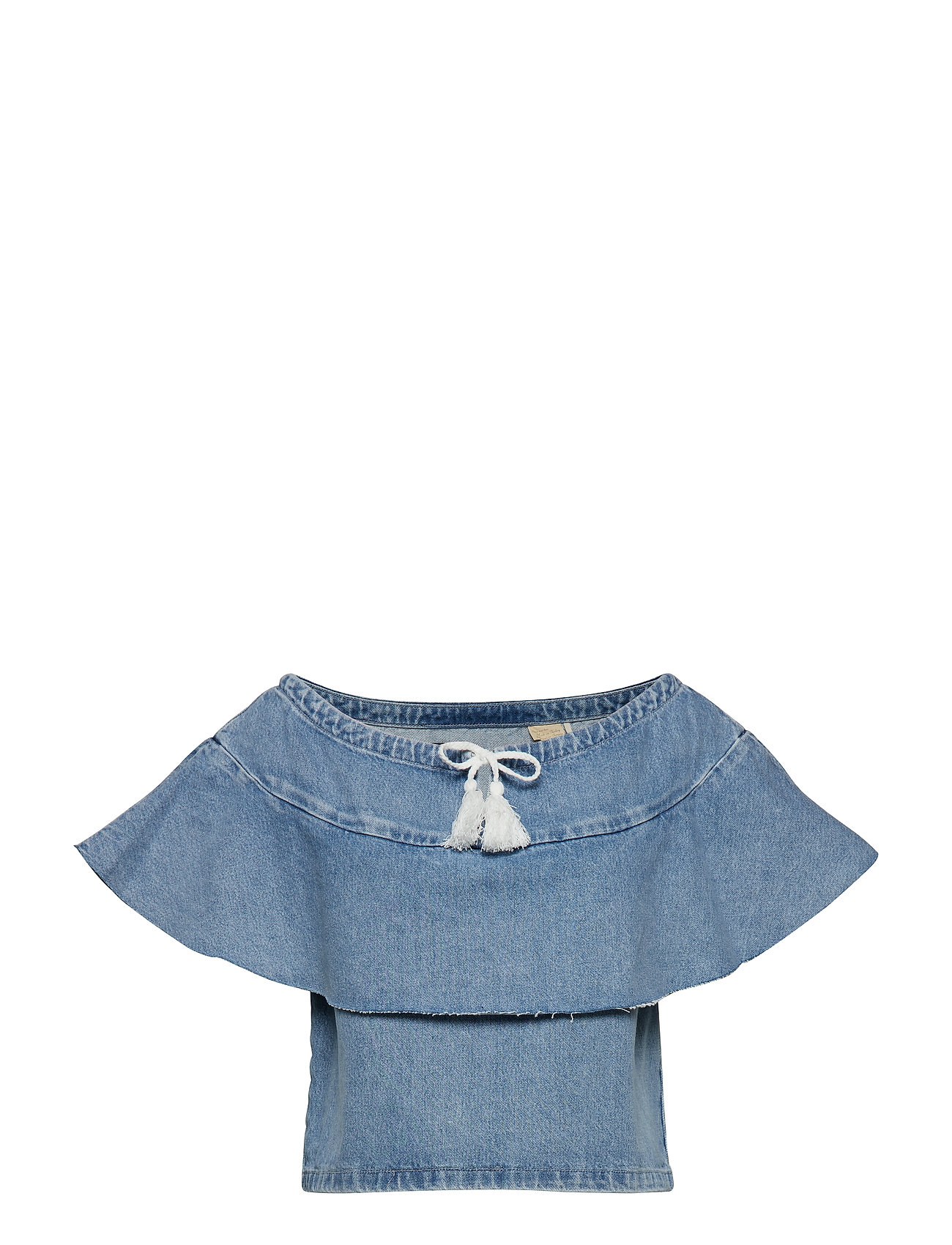 Levi's Made & Crafted LMC DENIM RUFFLE TOP LMC SILVE - BLUES