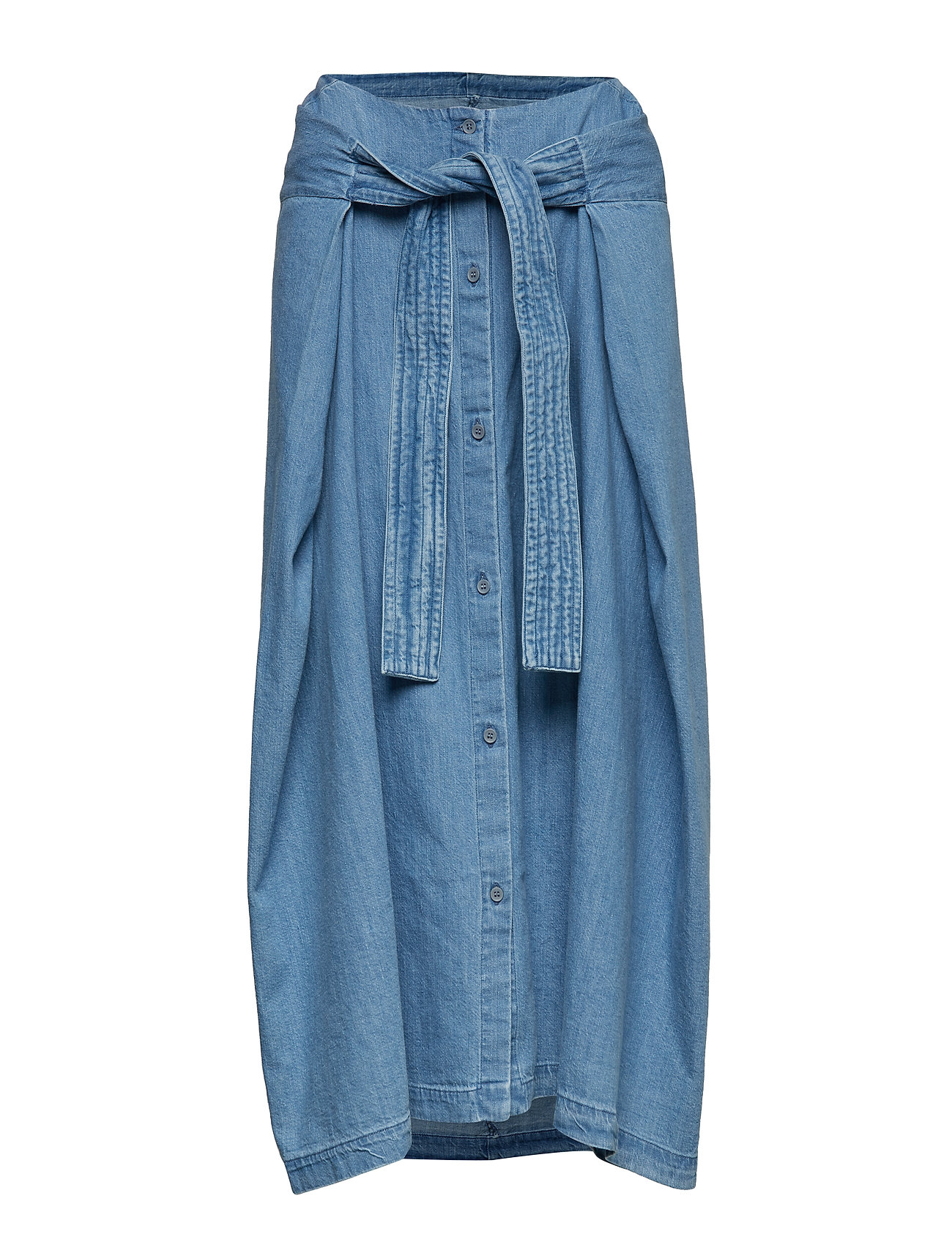 Levi's Made & Crafted LMC FIELD SKIRT LMC COMFORT DE - MED INDIGO - WORN IN