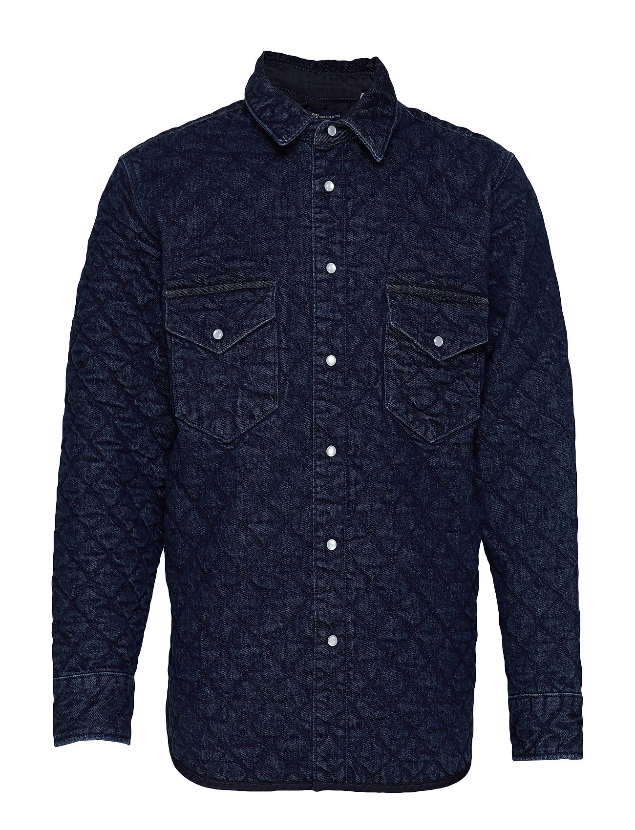 Levi's Made & Crafted LMC QUILTED WESTERN LMC OUTBAC - DARK INDIGO - FLAT FINISH