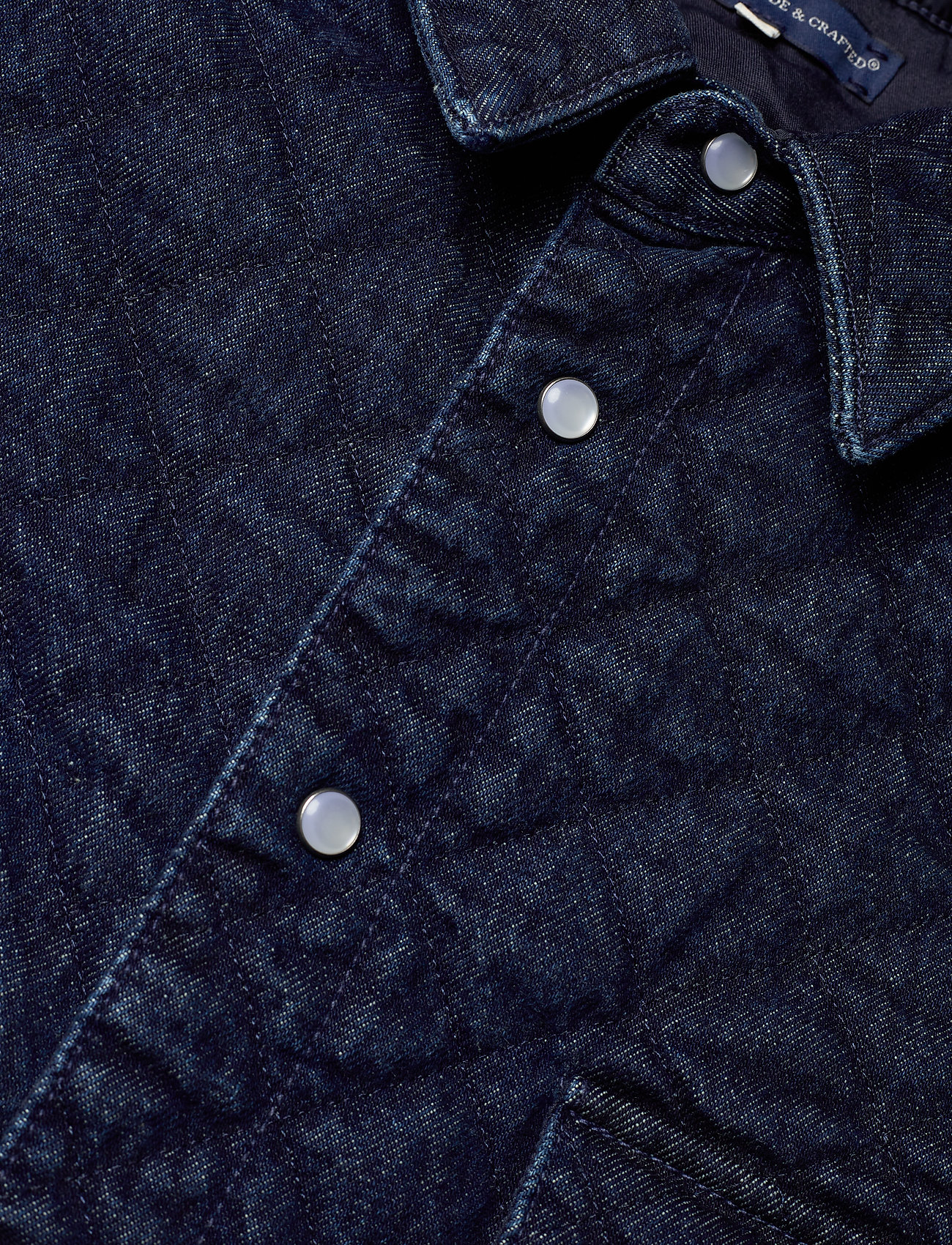 Levi's Made & Crafted Lmc Quilted Western Outbac - Chemises Dark Indigo Flat Finish