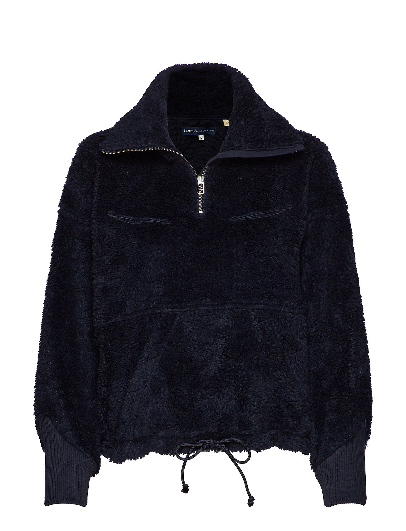 Levi's Made & Crafted LMC SHERPA TRACK POPOVER NAVY - BLUES