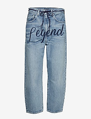 Levi's Made & Crafted - LMC BARREL LMC LEGEND - boyfriend jeans - med indigo - worn in - 0