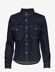 Levi's Made & Crafted - LMC S SHRNKN DNM SHIRT LMC SHR - chemises en jeans - dark indigo - flat finish - 0