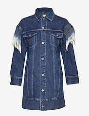 Levi's Made & Crafted - LMC OVRSZD RANCH DRESS LMC RIG - shirt dresses - dark indigo - flat finish - 0