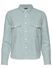 LMC SHRUNKEN DNM SHIRT 2 LMC B - LIGHT INDIGO - FLAT FINIS