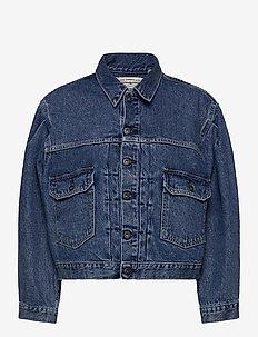 LMC SUNRAY TRUCKER LMC SUNSHIN - jeansjackor - med indigo - worn in