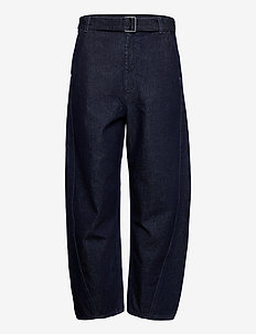 LMC CARVED TROUSER LMC DEEP IC - pantalons larges - dark indigo - flat finish