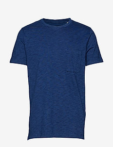 LMC POCKET TEE WASHED BLUE IND - basic t-shirts - blues
