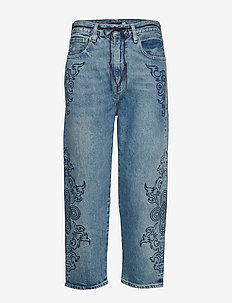 LMC BARREL LMC BLUE SOUTACHE - boyfriend jeans - med indigo - worn in