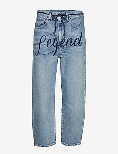 LMC BARREL LMC LEGEND - boyfriend jeans - med indigo - worn in