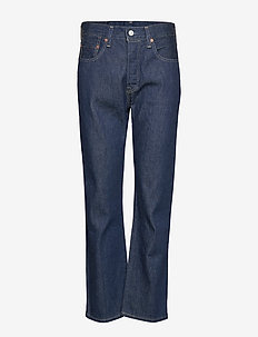 501 CROP LMC RAW INDIGO - straight jeans - dark indigo - flat finish