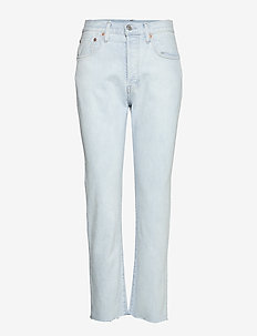 501 CROP LMC BLEACHED SAND - jeans droites - light indigo - flat finis
