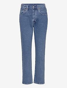 501 CROP LMC CLIFFSIDE - straight jeans - med indigo - worn in