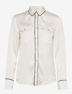 LMC WESTERN SMILEY TOP PRISTIN - long-sleeved shirts - neutrals