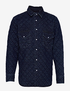 LMC QUILTED WESTERN LMC OUTBAC - décontractées - dark indigo - flat finish
