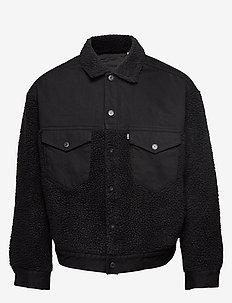 LMC OVRSIZED SHERPA TRKR LMC I - bomber jackets - blacks