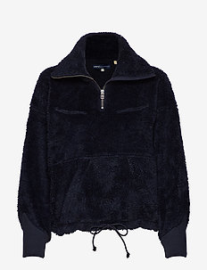 LMC SHERPA TRACK POPOVER NAVY - swetry - blues