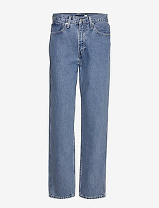 LMC THE COLUMN LMC INDIGO VALL - straight jeans - med indigo - worn in