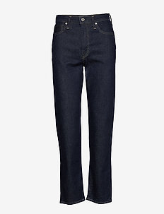 LMC THE COLUMN LMC RESIN VALLE - straight jeans - dark indigo - flat finish