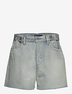 LMC CINCHED TAB SHORT LMC LEIS - denimshorts - light indigo - worn in