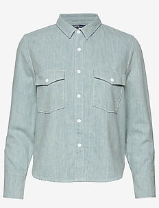 LMC SHRUNKEN DNM SHIRT 2 LMC B - denimskjorter - light indigo - flat finis