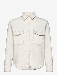 LMC SHRUNKEN DNM SHIRT 2 LMC E - jeansowe koszule - neutrals