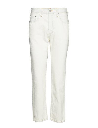 501 Crop Lmc Mid Century White Straight Jeans Hose Mit Geradem Bein Weiß LEVI'S MADE & CRAFTED   LEVI'S SALE