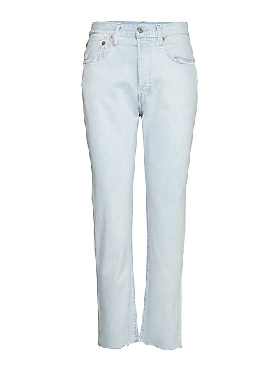 501 Crop Lmc Bleached Sand Straight Jeans Hose Mit Geradem Bein Blau LEVI'S MADE & CRAFTED