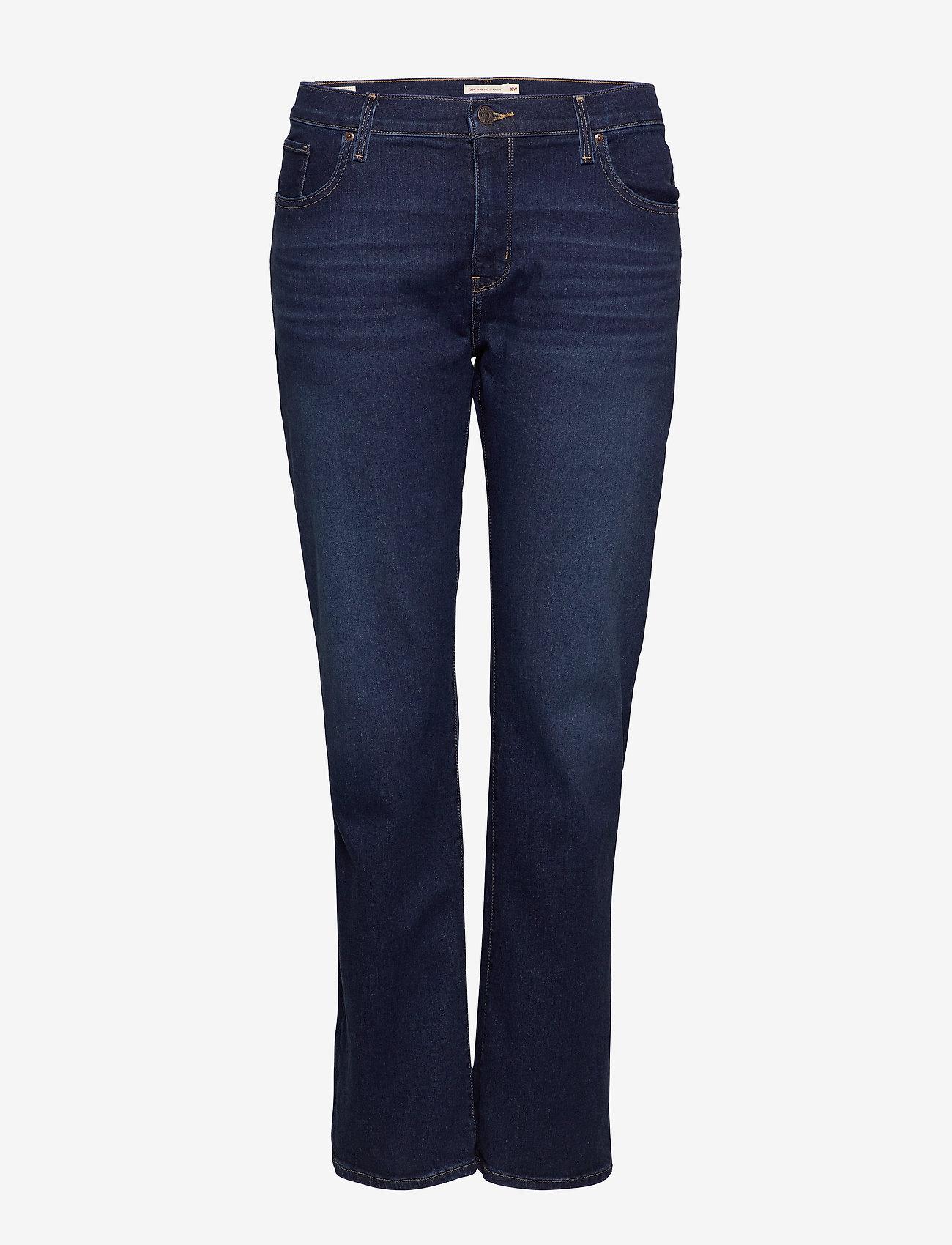 Levi's Plus Size - 314 PL SHAPING STRAIGHT BOGOTA - straight jeans - dark indigo - worn in - 0