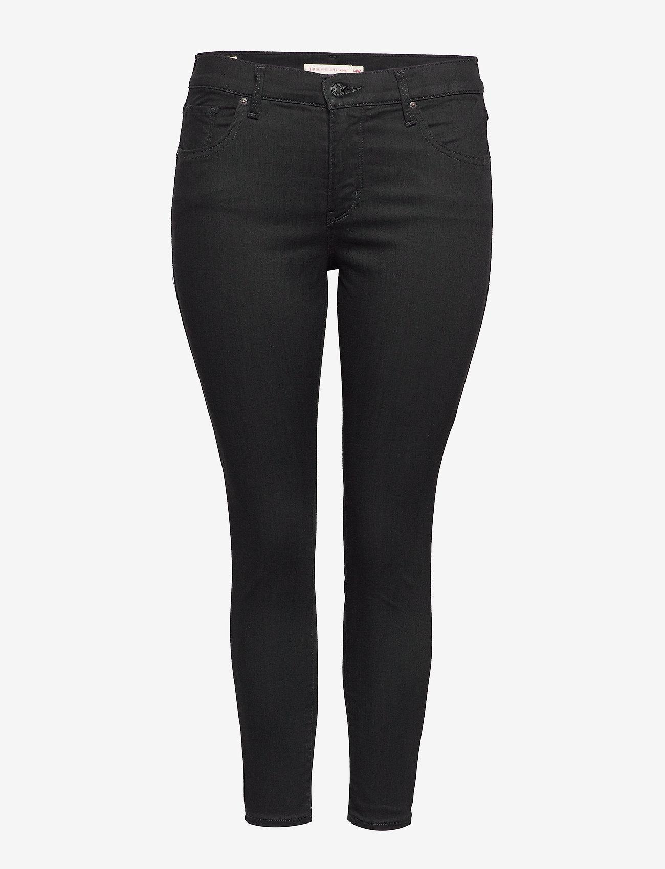 Levi's Plus Size - 310 PL SHPING SPR SKINNY BLACK - broeken med skinny fit - blacks - 0