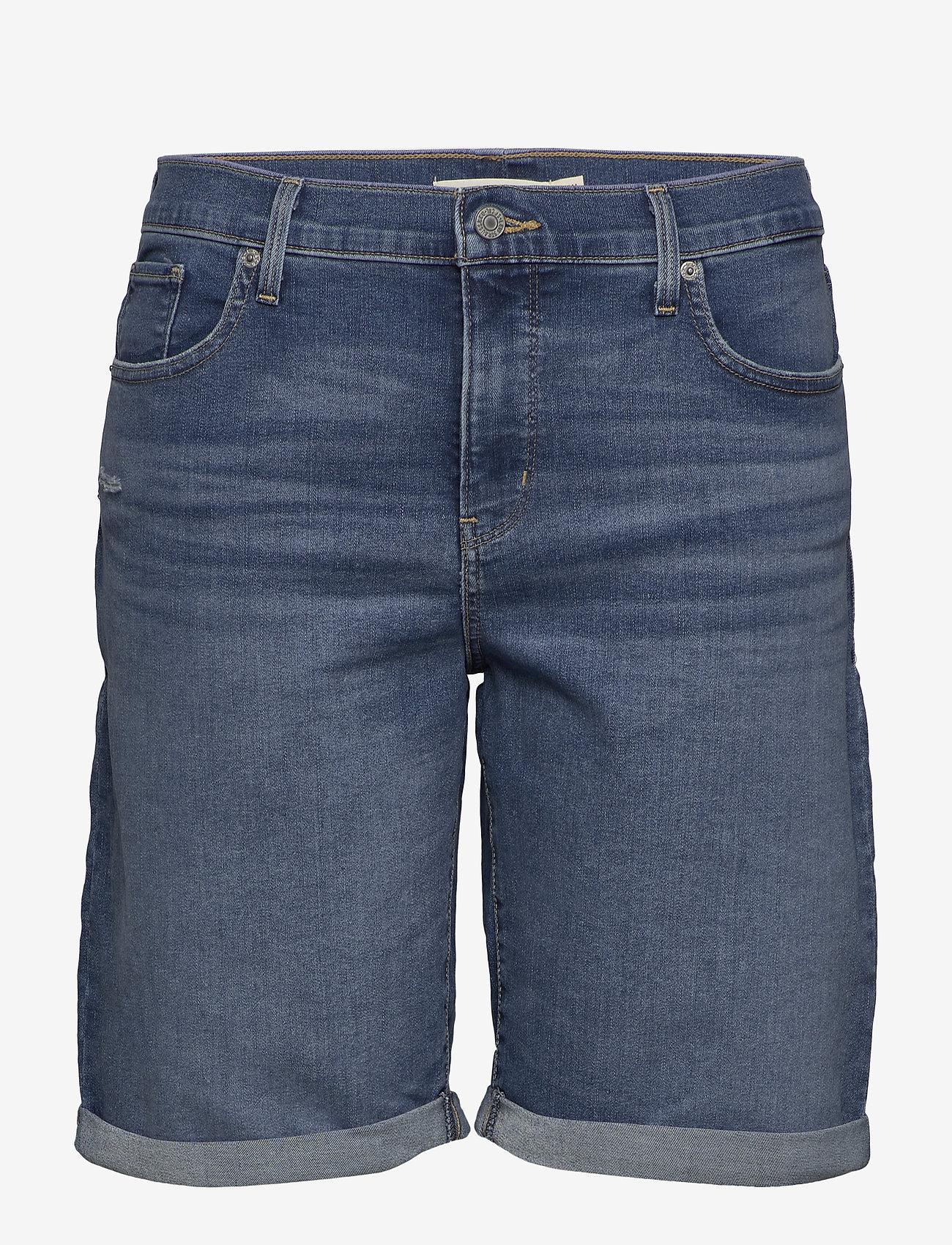 Levi's Plus Size - PL SHAPING BERMUDA PARIS RAIN - med indigo - worn in - 0