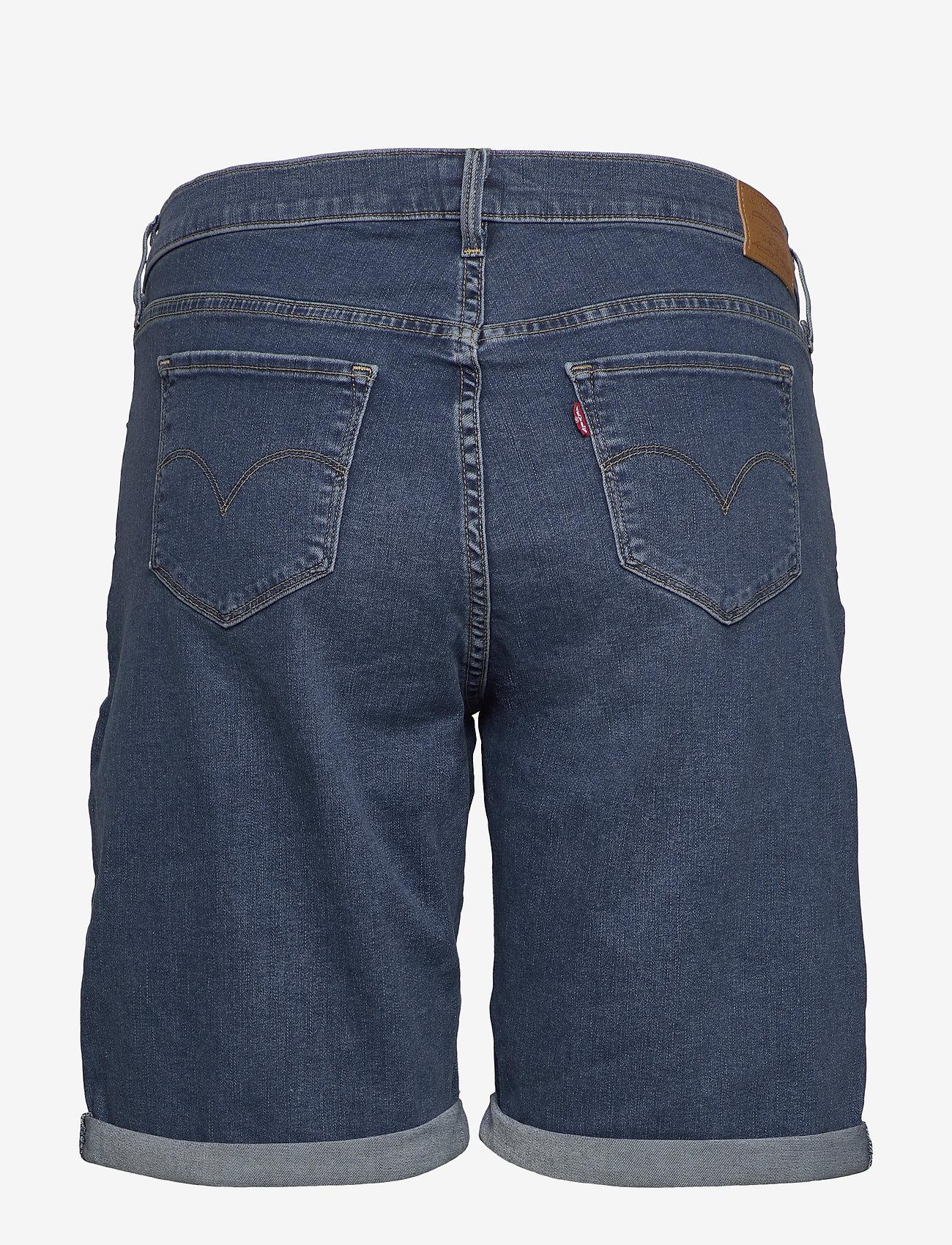 Levi's Plus Size - PL SHAPING BERMUDA PARIS RAIN - med indigo - worn in - 1
