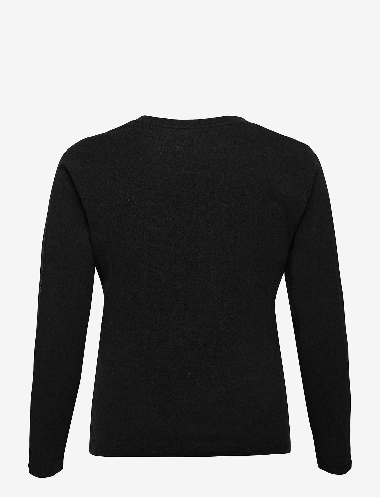 Levi's Plus Size - PL LONG SLEEVE BABY TEE CAVIAR - tops met lange mouwen - blacks - 1
