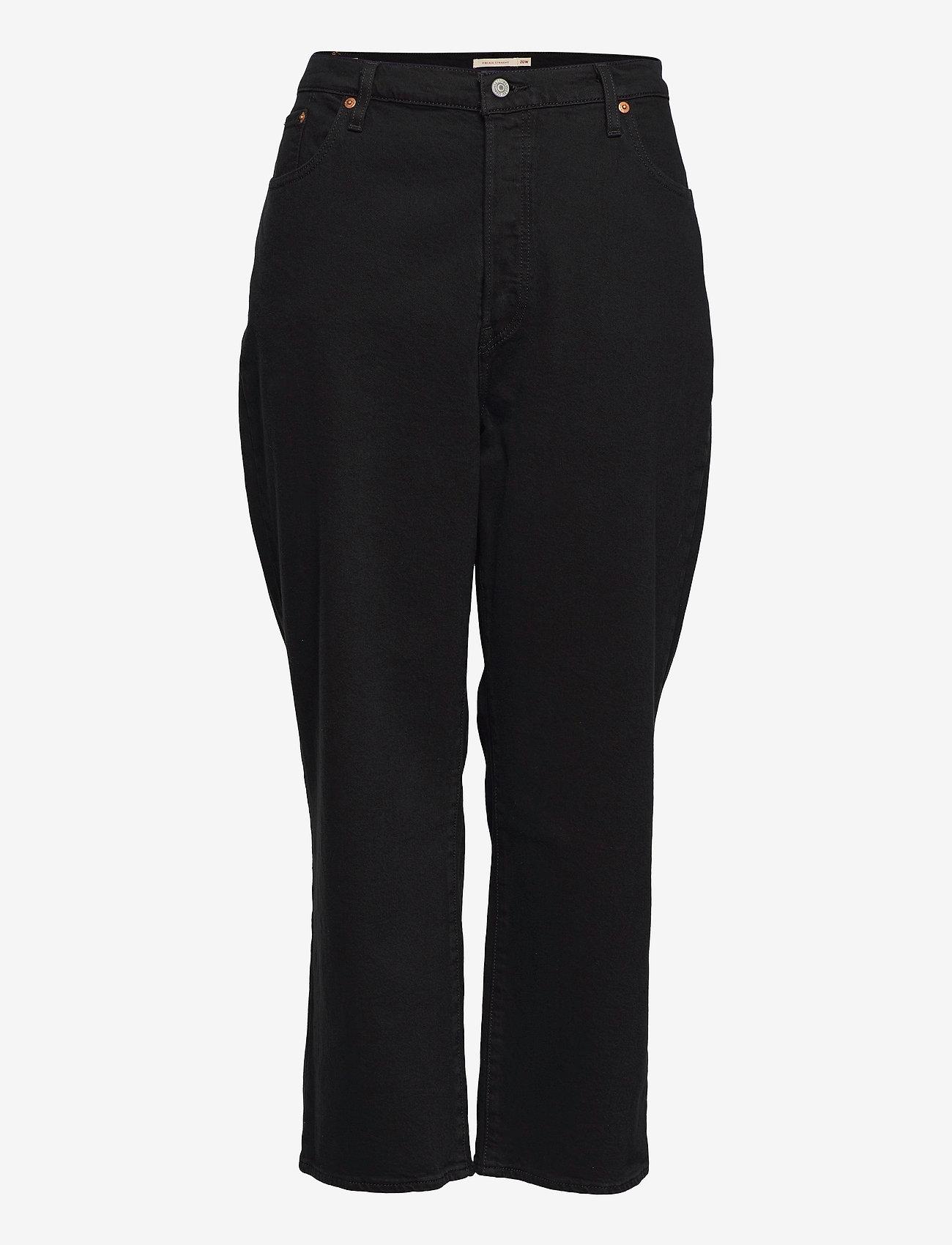 Levi's Plus Size - PL RIBCAGE STRAIGHT ANK BLACK - raka jeans - blacks - 0