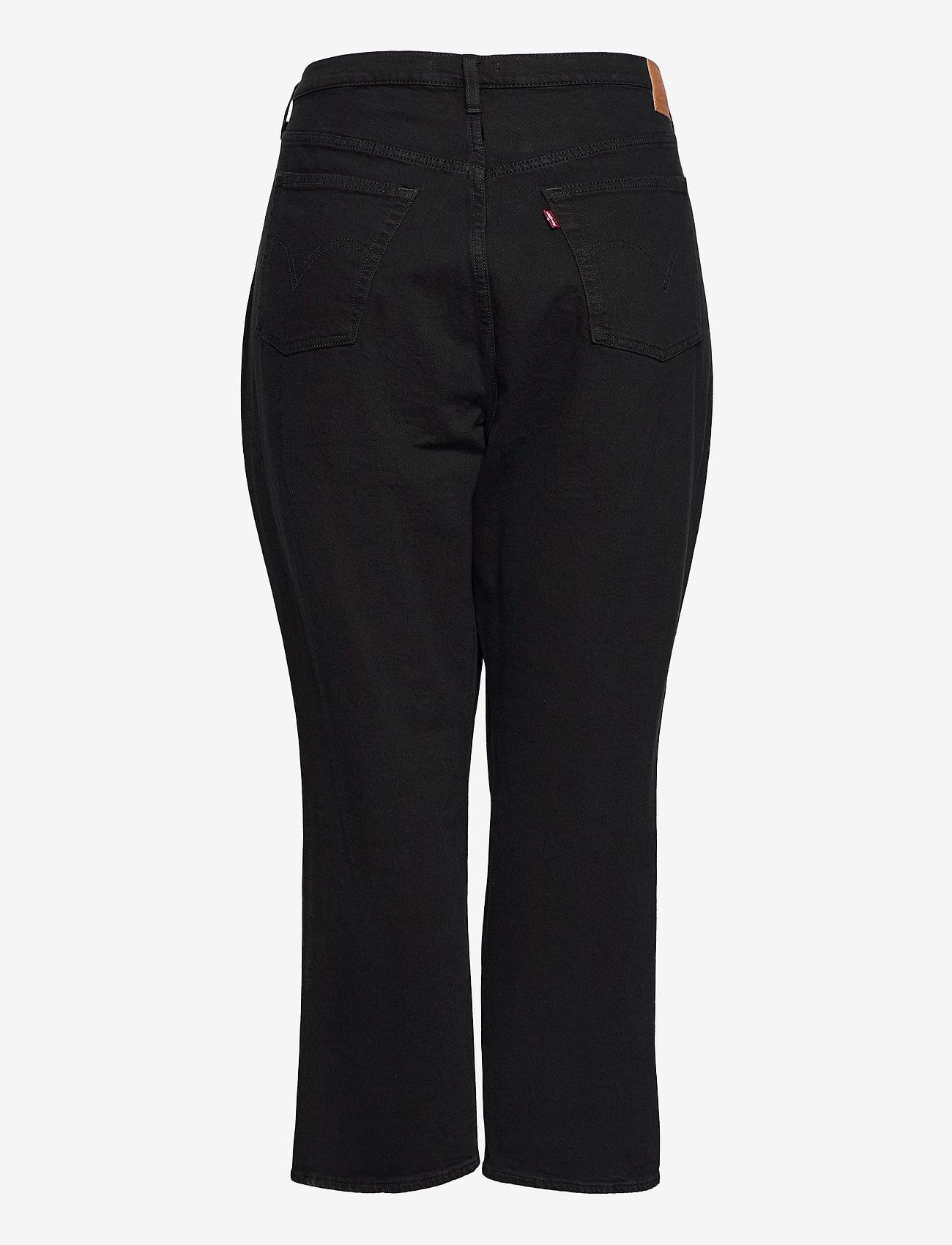 Levi's Plus Size - PL RIBCAGE STRAIGHT ANK BLACK - raka jeans - blacks - 1