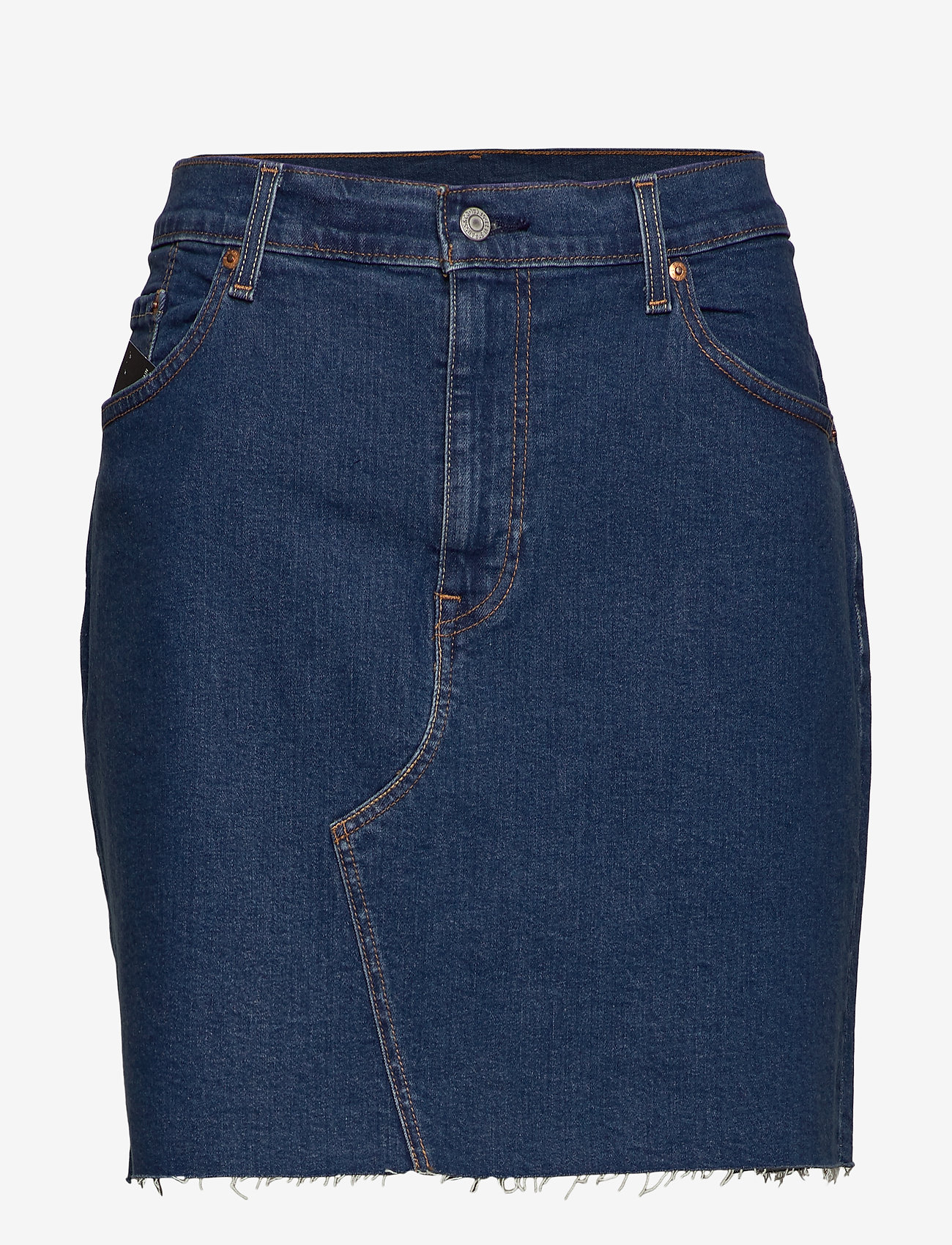 Levi's Plus Size - PL DECONSTRUCTED SKIRT MEET IN - jeansrokken - med indigo - flat finish - 0