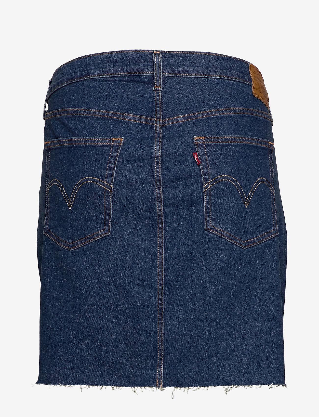 Levi's Plus Size - PL DECONSTRUCTED SKIRT MEET IN - jeansrokken - med indigo - flat finish - 1