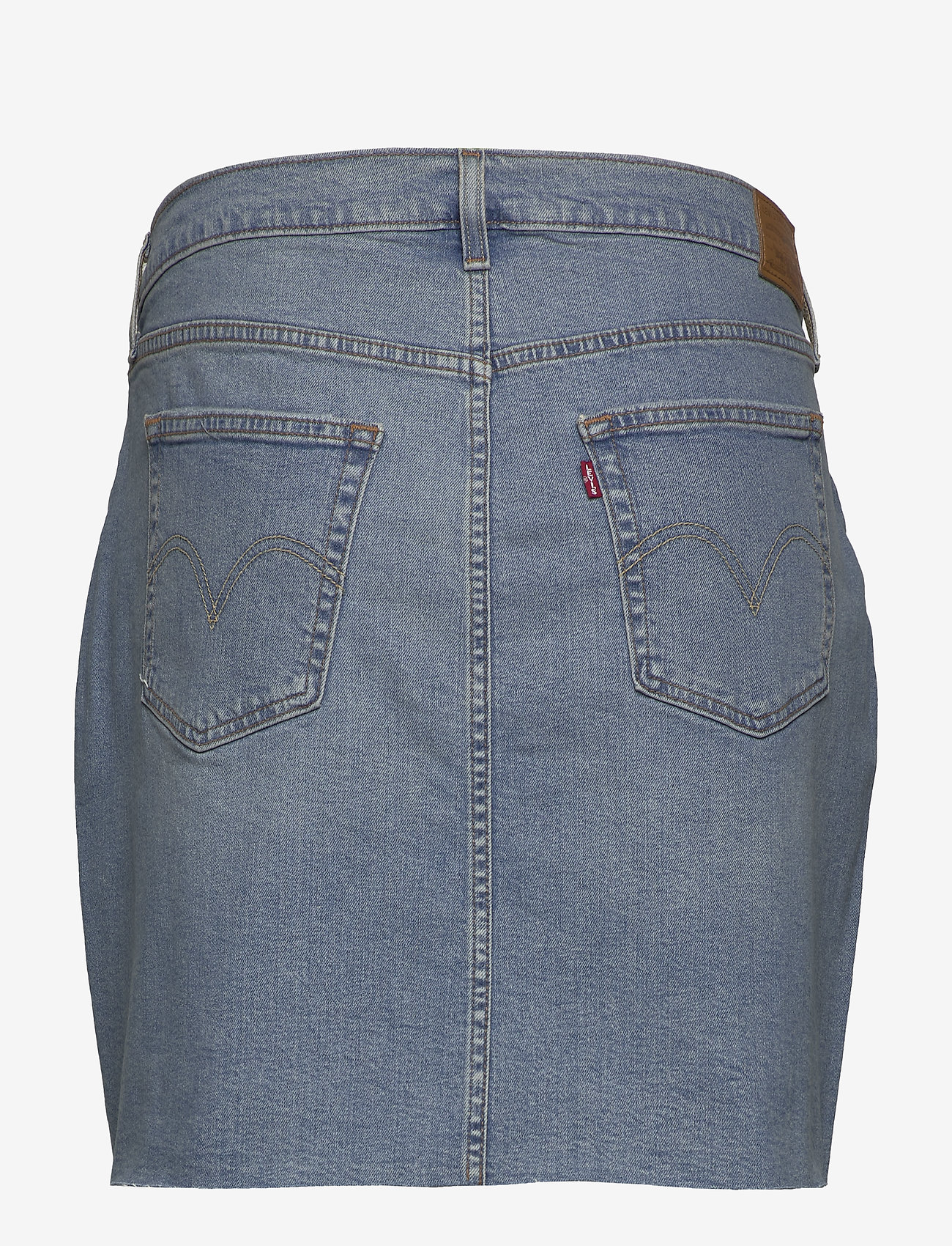 Levi's Plus Size - PL DECONSTRUCTED SKIRT GATEWAY - denim skirts - light indigo - worn in - 1