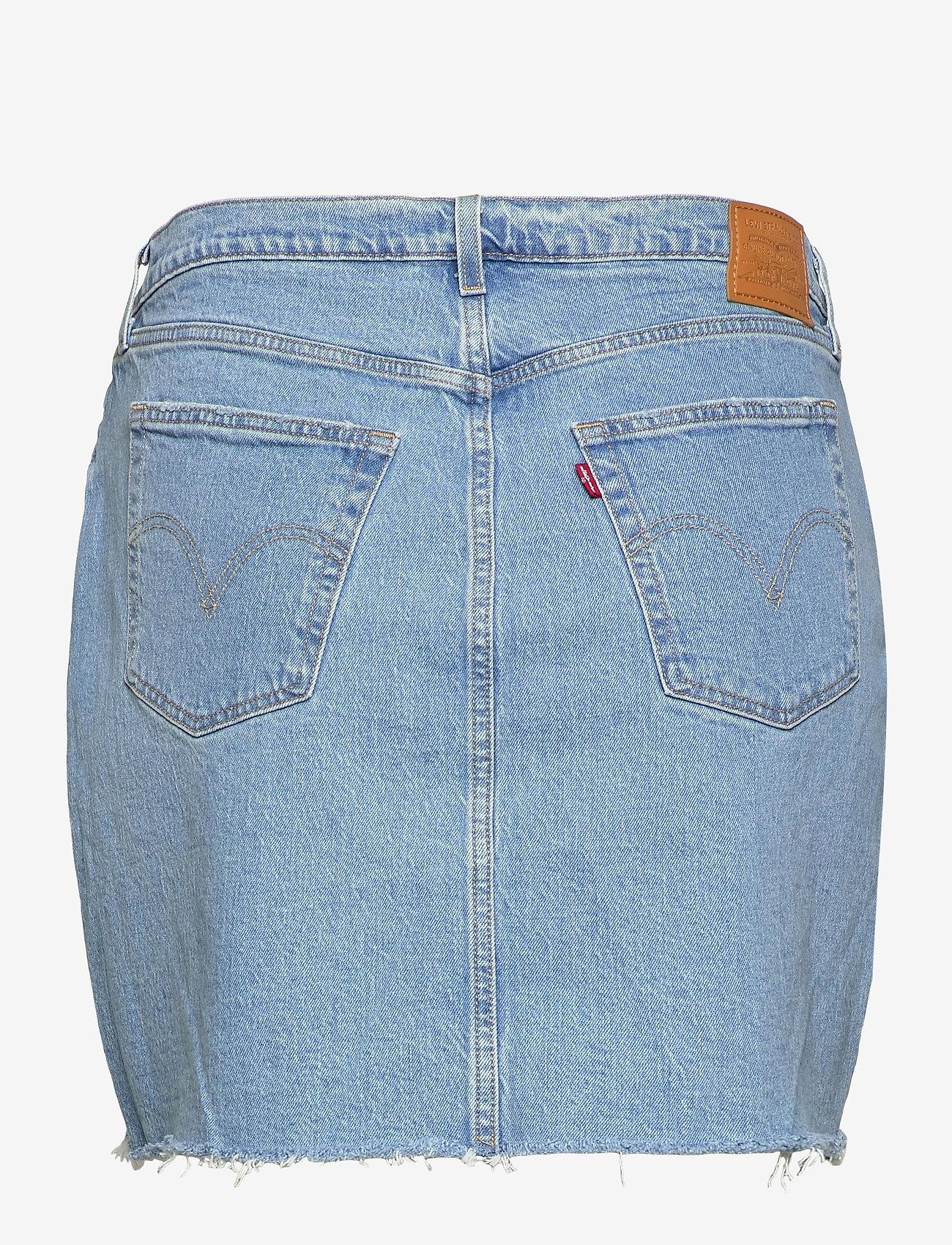 Levi's Plus Size - PL DECONSTRUCTED SKIRT LUXOR H - denim skirts - light indigo - worn in - 1
