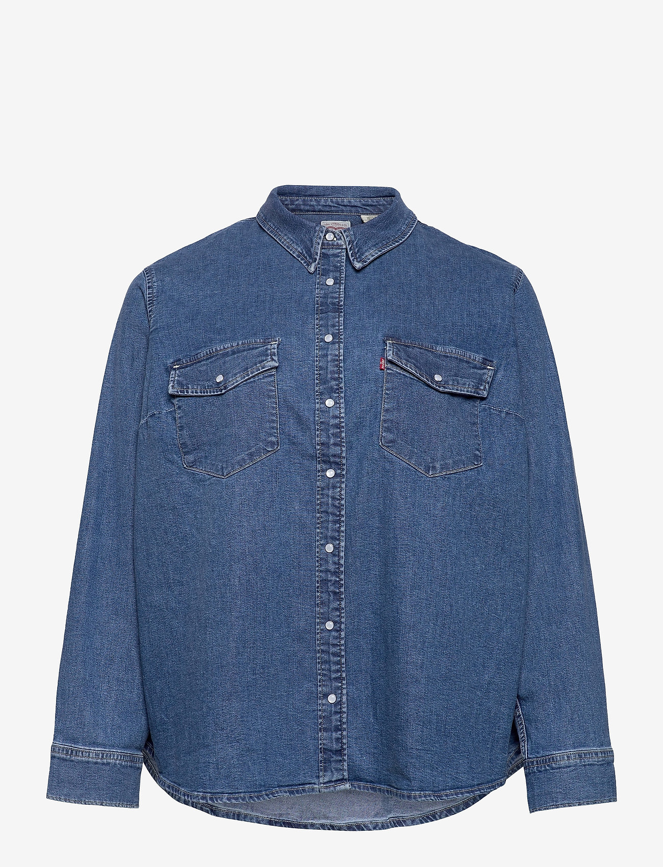 Levi's Plus Size - PL ESSENTIAL WESTERN GOING STE - denim shirts - med indigo - flat finish - 0