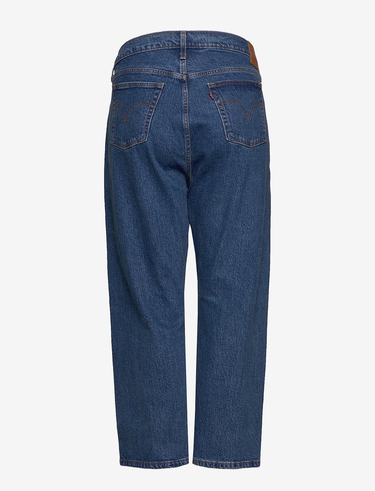 Levi's Plus Size - PL 501 CROP JIVE STONEWASH - straight jeans - med indigo - flat finish - 1