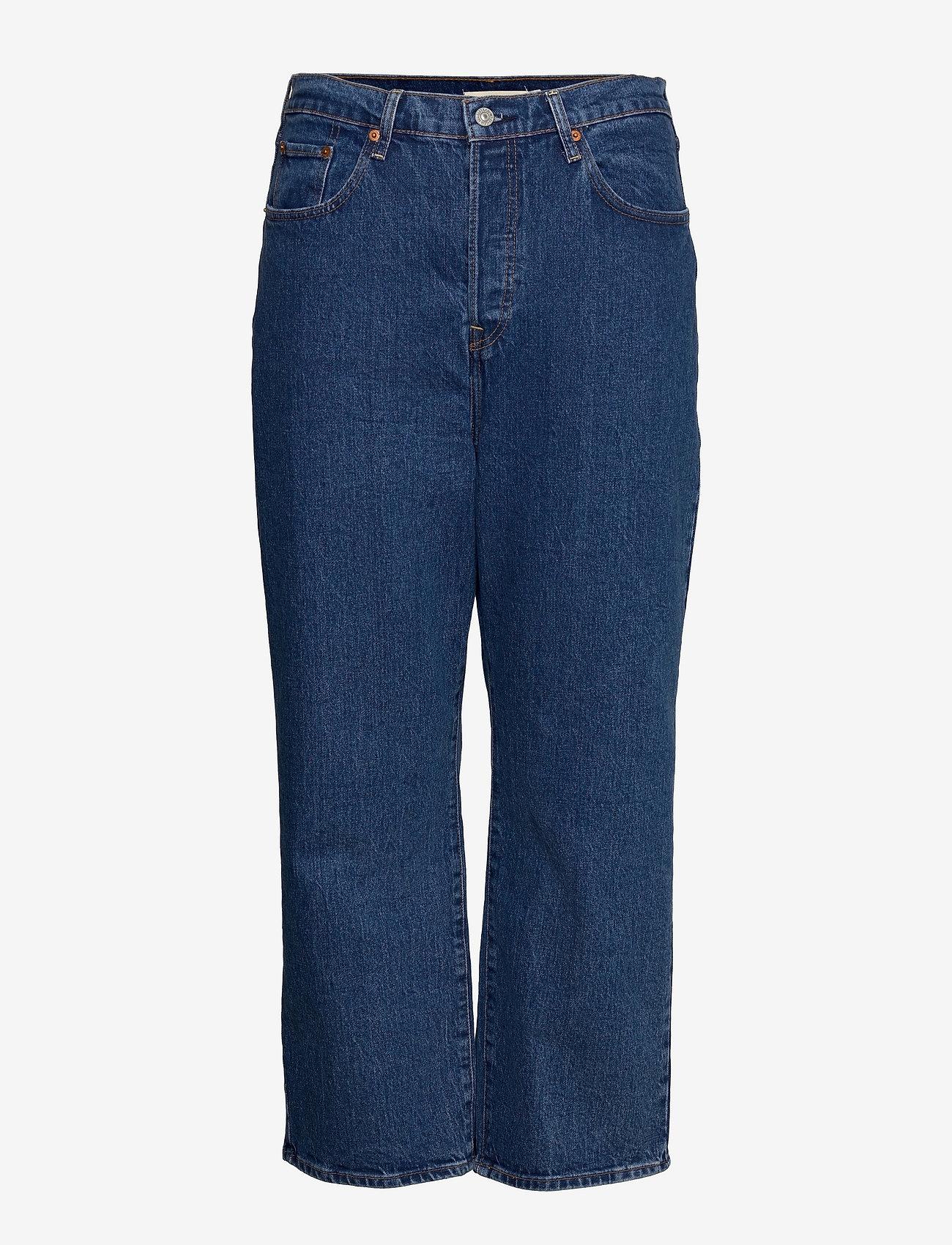 Levi's Plus Size - PL RIBCAGE STRAIGHT ANK JAZZ G - straight jeans - med indigo - flat finish - 0